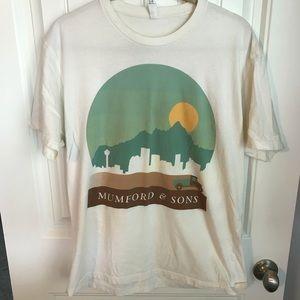 Mumford & Sons concert tee shirt size large